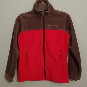 Columbia super soft fleece jacket size small red a